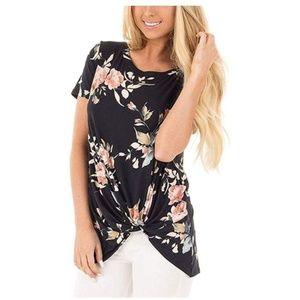 SAMPEEL Women's Casual T Shirts Tunics Tops- Black